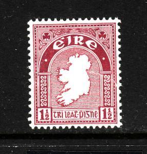 Ireland-Sc#108-unused  heavy hinged-1&1/2p claret-1941-Maps