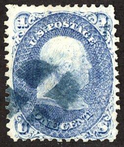 U.S. #63 Used BLUE Cancel