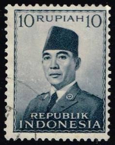 Indonesia #395 Pres. Sukarno; Used (0.25)