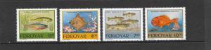 FISH - FAROE ISLANDS-#260-63  MNH