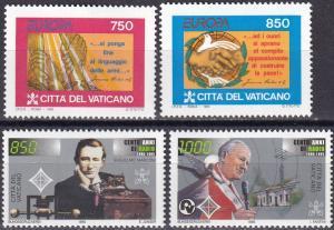 Vatican City #971-2, 978-9  MNH CV $4.90 Z77