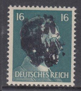 Germany Soviet Zone SBZ - LOCAL BURGSTEIN 16Pf HITLER head - Expertized Valicek