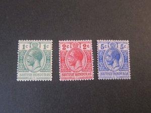 Honduras 1913 Sc 75,86-7 MH
