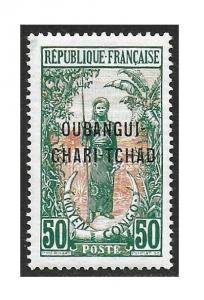 Ubangi-Shari 1915-22 50c #17 VF-H CV $6.00