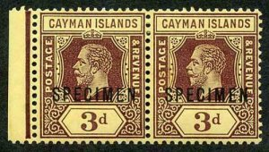 Cayman Is SG45as 3d Pair Opt SPECIMEN m/m (some toning)