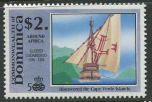 DOMINICA -Scott 1302 - Voyages of Discovery -1991 - MNH- Single $2.00c Stamp