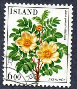 Iceland Scott #586 6k Flowers (1984) Used