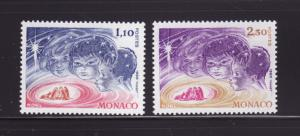 Monaco 1250-1251 Set MNH Christmas