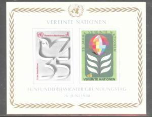 United Nations UN  Vienna Scott 14 MNH** 35th Anniversary sheet