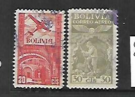 BOLIVIA, C63-C64, USED, 1938 ISSUE
