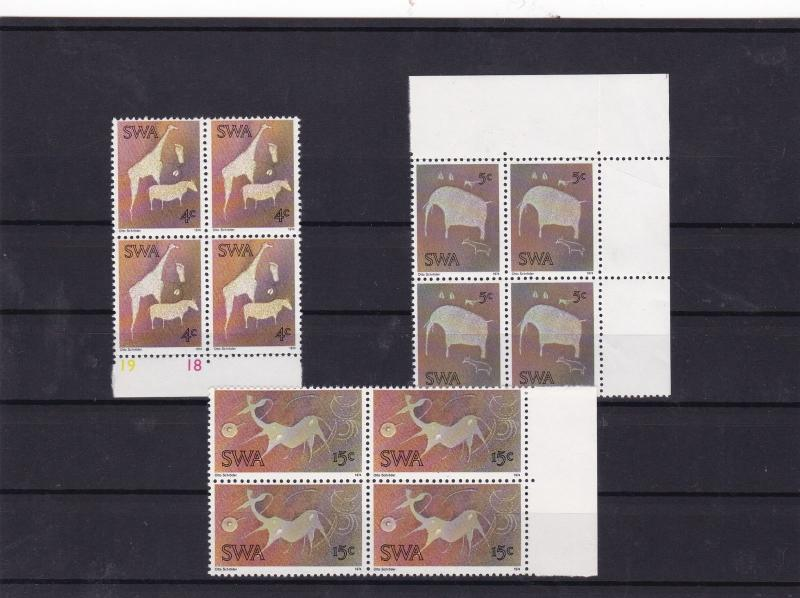 south west africa twyfelontein rock engravings mnh stamps  Ref 10275