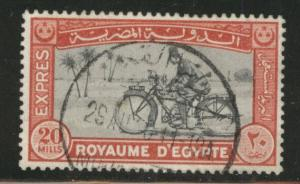 EGYPT Scott E2 1929 Motorcycle Special Delivery stamp Used