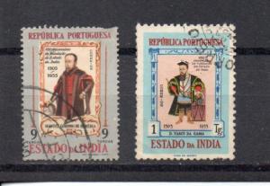Portuguese India 536-537 used