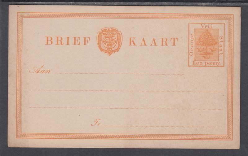 Orange Free State H&G 1 mint 1884 1p Orange Tree Postal Card