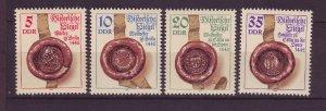 J24513 JLstamps 1984 germany DDR set mnh #2422-5 historic seals