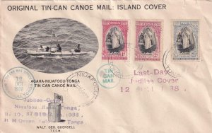 1938, Niuafoou, Tonga, Last Day Jubilee Cover, See Remark (41467)