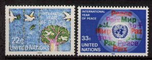 United Nations - New York 475-6 MNH Birds, International Peace Year