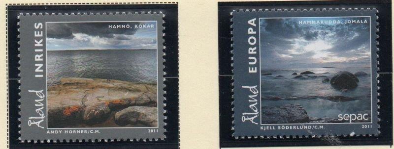 Aland Finland Sc  322-23 2011 Kokar & Jomala stamp set mint NH