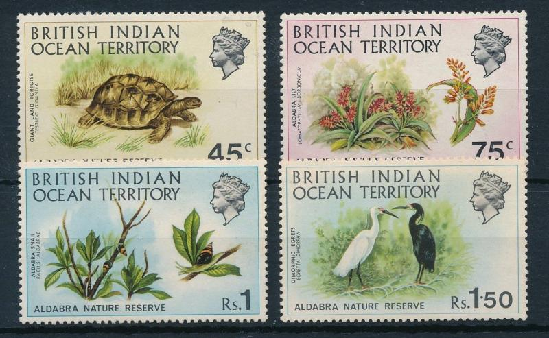 [23855] British Indian Ocean Territory 1971 Animals Turtle Birds MNH light toned