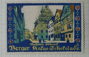 City Hall Connect Berger Chocolate German Brand Poster Stamp Ads