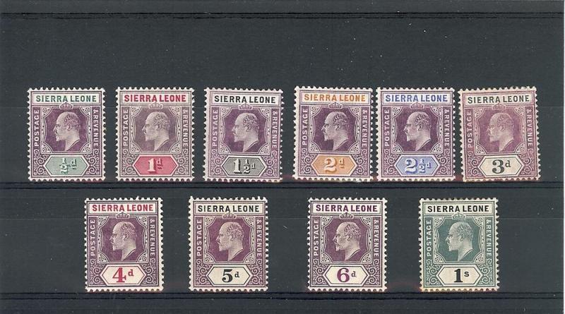 Sierra Leone,77-86 (No 87-89), King Edward VII Singles,**H**