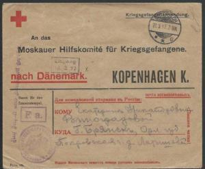 GERMANY 1917 POW cover to Denmark..........................................58088