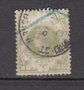 J26248  jlstamps 1887-92 great britain used #122 queen $ 72.50 scv