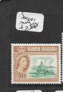 NORTH BORNEO  (PP0104B)  QEII 50C COW SG 401  MOG