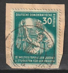 #87 Germany DDR Used on paper