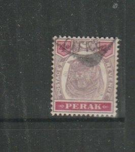 Malaya Perak 1895/9 Tiger 4c Used SG 69
