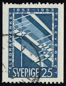 Sweden #452 Telephone; Used (0.25)