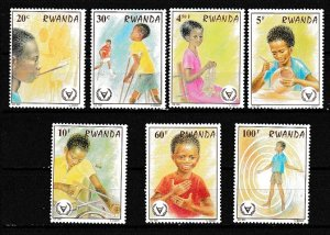 Rwanda 1981 Scott 1059-1066 International yr of the Disabled MNH short set