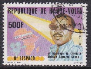 Burkina Faso (Upper Volta) #614 F-VF postally used Filmmker Dumarou Ganda