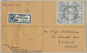 77308 - MALAYA  Penang - POSTAL HISTORY - Registered FDC Cover 1954  - SG # 52