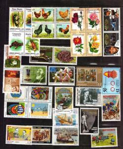 2000-2001 URUGUAY topical stamps Fauna Flora art ship MNH Scott  value $115