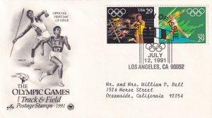 1991, Olympic Games-Track & Field, Art Craft/PCS, FDC (E11330)