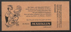 1961 Germany Complete unexploded booklet with pane of 10 MNH Sc827