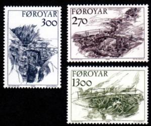 STAMP STATION PERTH Faroe Islands #149-151 Fa144-146 MNH CV$6.15