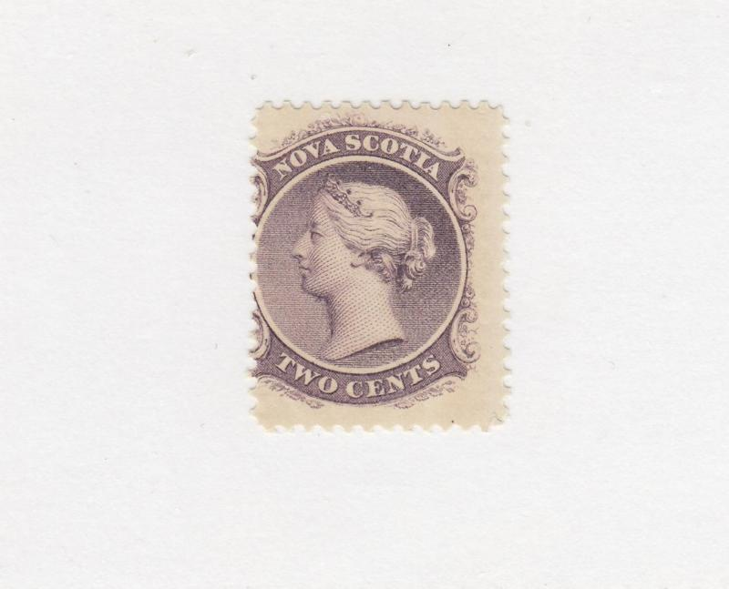 NOVA SCOTIA # 9 F-MNH 2cts Q/VICTORIA LILAC CAT VALUE $20