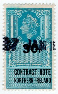 (I.B) Elizabeth II Revenue : Contract Note (Northern Ireland) 30p