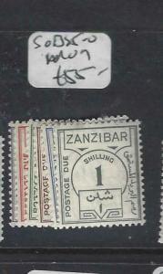 ZANZIBAR   (P3004B)  POSTAGE DUES SG D25-0  MOG