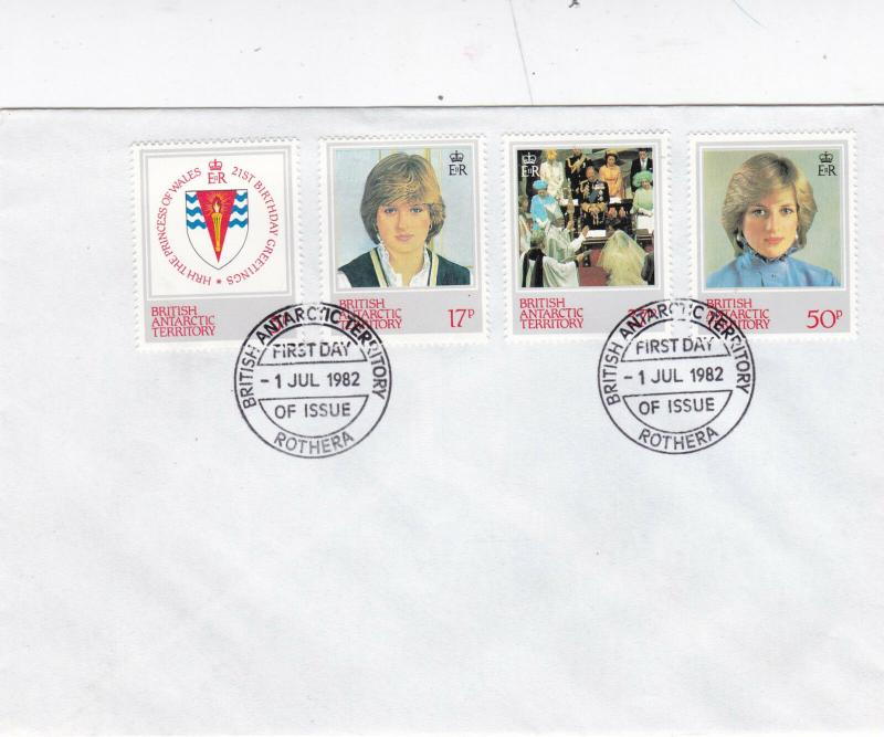 British Antarctic Territory 1990 Dianas 21st Birthday FDC Unadressed VGC X