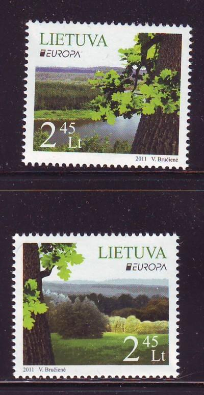 Lithuania Sc 938-9 2011 Europa stamp set mint NH