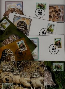 Aruba 8 covers/cards WWF-94/Owls