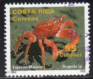 Costa Rica 473 - Used - 55col Ghost Crab (1994) (cv $0.85)