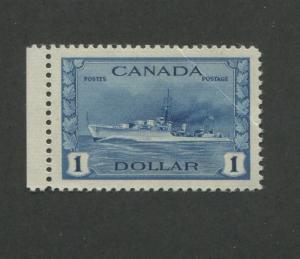 1942 Canada Tribal Class Destroyer Royal Navy 1Dollar Postage Stamp #262 CV $100