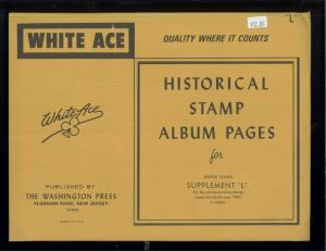 1983 White Ace United States Commemorative Singles Stamp Album Supplements L