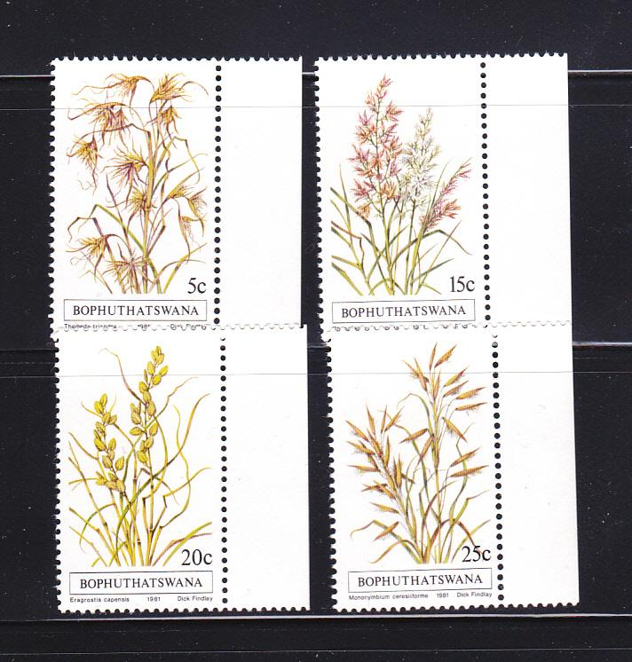 South Africa Bophuthatswana 80-83 Set MNH Grasses