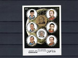 Oman 1979 Space ovpt.100th.Ann.Sir Rowland Hill in Gold S/S Imperf.