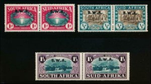 SOUTH WEST AFRICA B9-B11 MINT LH PAIRS